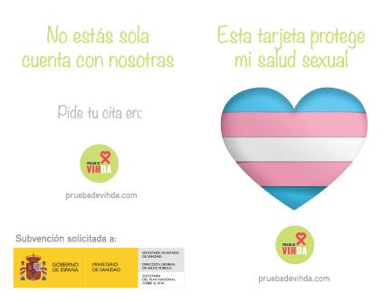 Exterior tarjeta Campaña mujeres trans
